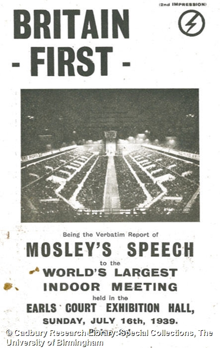 Oswald Mosley papers, principally deposited by Lady Diana Mosley